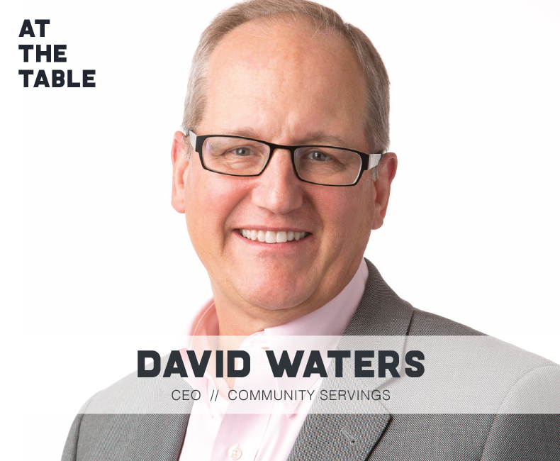 Community Servings CEO David Waters as a guest on the At The Table Podcast