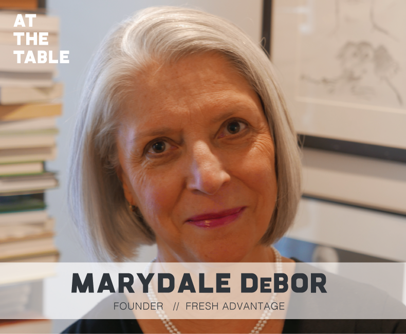 Marydale DeBor Headshot for At The Table Podcast