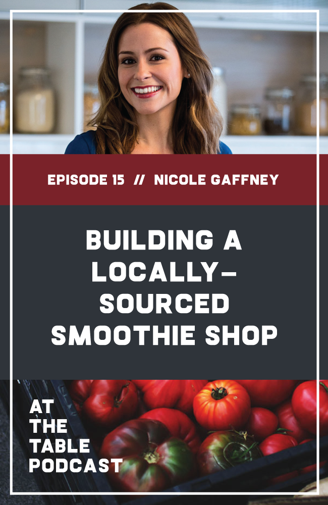 Nicole Gaffney on At The Table Podcast | My guest today is Nicole Gaffney, aka Coley. She's a former personal chef turned food blogger and tv personality - you might recognize her from segments on QVC or the Today Show or as a runner-up on Food Network Star. Last year, she opened Soulberri, a locally-focused, socially conscious coffee and smoothie shop in her hometown of Brigantine, New Jersey.