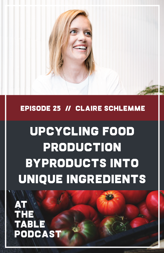 Claire is the founder and CEO of Renewal Mill, a next-generation ingredients company that upcycles byproducts like okara, a pulp that's created during the soymilk production process. Renewal Mill is working to transform traditional food production byproducts into delicious, nutritious culinary ingredients that reduce food waste throughout the supply chain. In this interview, I talk to Claire about the need for creative solutions in food production, why okara was a natural choice for byproduct up cycling, and the future of sustainable food production. | At The Table Podcast
